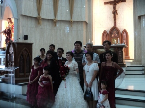 The Happy Couple with Family