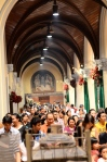 During the Holy Mass