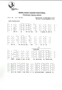 SATB Mars Arah Dasar Pastoral KAJ - A Susilo Wijoyo Pr (Page1)